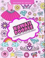 Kawaii Doodle Coloring Book for Girls