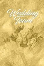 Gold Wedding Team Journal Notes to Write in