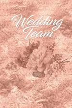 Rose Gold Wedding Team Journal Notes to Write in