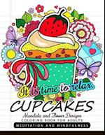 Cupcakes Coloring Book for Adults