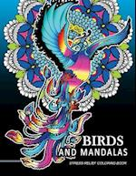 Bird and Mandalas Coloring Book for Adults
