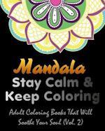 Mandala Adult Coloring Book Vol 2