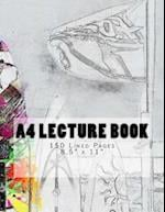 A4 Lecture Book 150 Lined Pages 8.5 X 11