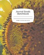 Journal Goods Sketchbook - Bee Sunflower