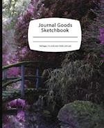 Journal Goods Sketchbook - Purple Garden