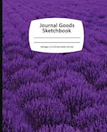 Journal Goods Sketchbook - Purple Field
