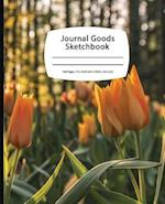 Journal Goods Sketchbook - Sunset Tulips