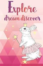 Explore Dream Discover Inspirational Quotes Journal Notebook, Dot Grid Composition Book Diary (110 Pages, 5.5x8.5)