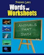 Preston Lee's Words and Worksheets - Animals That Swim