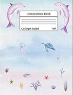 Watercolor Under the Sea Composition Book