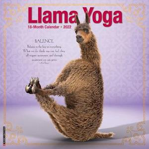 Llama Yoga 2022 Wall Calendar