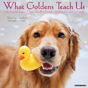 What Goldens Teach Us 2022 Wall Calendar (Golden Retriever Dogs, Dog Breed)