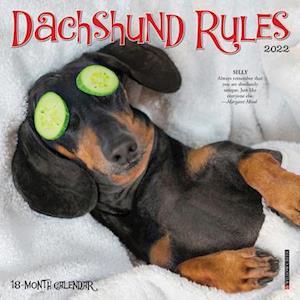Dachshund Rules 2022 Mini Wall Calendar (Dog Breed)