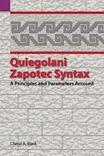 Quiegolani Zapotec Syntax: A Principles and Parameters Account af Cheryl Black