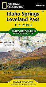 Idaho Springs, Loveland Pass af National Geographic Maps - Trails Illust