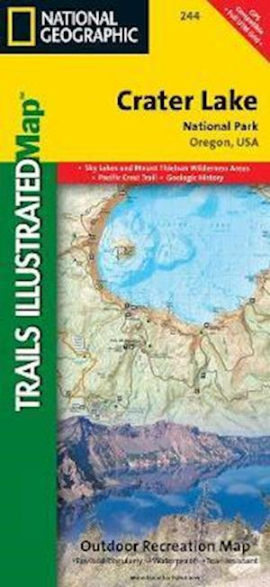 National Geographic Trails Illustrated Map, Crater Lake National Park Oregon, USA