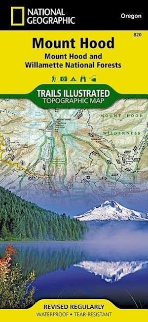 Bog, paperback National Geographic Trails Illustrated Topographic Map Mount Hood, Mount Hood and Willamette National Forests Oregon af National Geographic Maps