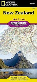 National Geographic Adventure Map New Zealand af National Geographic Maps