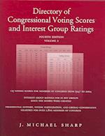 Directory of Congressional Voting Scores and Interest Group Ratings SET