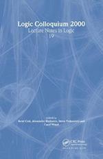 Logic Colloquium 2000 (Lecture Notes in Logic, nr. 19)