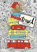 The Travel Coloring Book (Meditative Mindful Coloring)