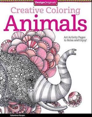 Bog, paperback Creative Coloring Animals af Valentina Harper