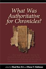 What Was Authoritative for Chronicles?