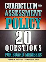 Curriculum and Assessment Policy