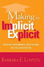 Making the Implicit Explicit af Barbara E. Lovitts