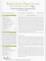 E-mail and Effective Communication (Effective Practices for Academic Leaders, nr. 3)