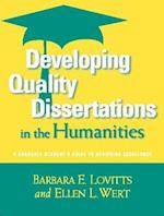 Developing Quality Dissertations in the Humanities af Barbara E Lovitts, Ellen L Wert