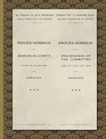 Procès-Verbaux of the Proceedings of the Committee June 16th-July 24th 1920: With Annexes (1920)