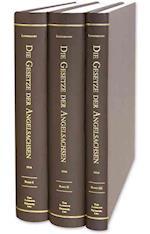 Die Gesetze Der Angelsachsen(4 Vols. in 3 Books, Complete Set)