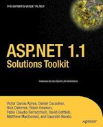 ASP.Net 1.1 Solutions Toolkit (Books for Professionals by Professionals)