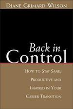 Back in Control (Culture Tools Series)