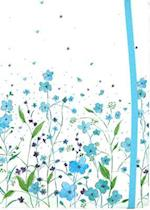 Small Journal Blue Flowers