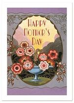 Art Nouveau Perfume Label Mother's Day Greeting Card