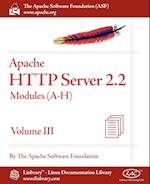 Apache HTTP Server 2.2 Official Documentation - Volume III. Modules (A-H)