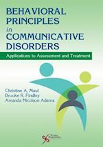 Behavioral Principles in Communicative Disorders