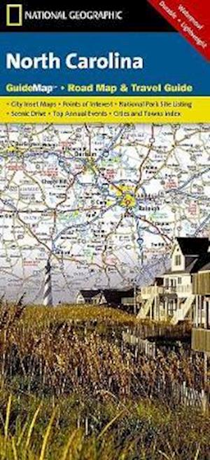 Bog, paperback National Geographic Guide Map North Carolina af National Geographic Maps