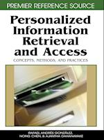 Personalized Information Retrieval and Access