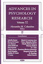 Advances in Psychology Researchvolume 52 af Alexandra M. Columbus