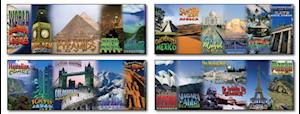 World Landmarks and Locales Topper Bulletin Board Set