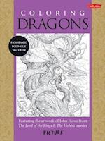 Coloring Dragons Adult Coloring Book (Pictura)