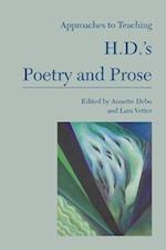 Approaches to Teaching H.D.'s Poetry and Prose