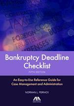 Bankruptcy Deadline Checklist af Norman L. Pernick