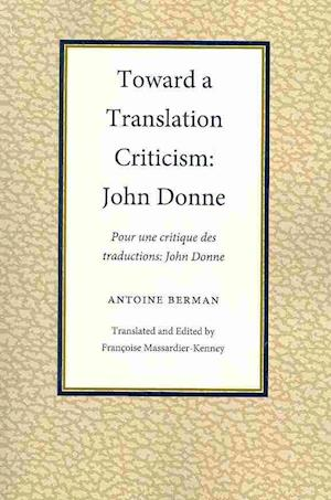 Toward a Translation Criticism