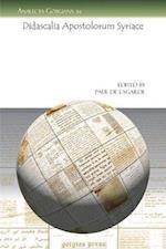 Didascalia Apostolorum Syriace af Paul De Lagarde