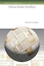 Hebrew Studies Miscellany af Paul De Lagarde