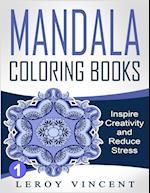 Mandala Coloring Books af Leroy Vincent